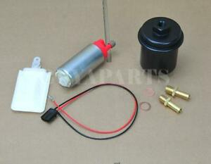 255lph In tank Fuel Pump Black Cleanable Filter Kit For 1988 2000 Honda Civic