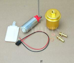 255lph In tank Fuel Pump Gold Cleanable Filter Kit For 1988 2000 Honda Civic