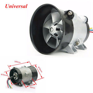 Universal Auto Electric Turbo Charger Boost Air Intake Fan 12v 16 5a Bold Lines