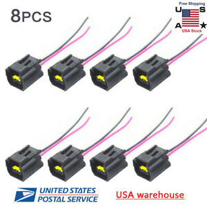 Set Of 8pcs Modular Ignition Coil Connector Pigtail Plug For Ford 4 6l 5 4l 6 8l