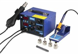 2 In 1 Dual Digital New Hot Air Rework Yihua 862d 720w Soldering Station Uc