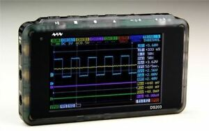 72msa s Ds203 Usb Interface 8mhz 4 channel Digital Oscilloscope Handheld