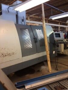 2001 Brute 4828 Cnc Vertical Machining Center W 4 Axis Rotary 50 Taper Video