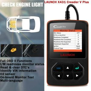 Launch X431 Creader V Automotive Scanner Obd2 Fault Code Reader Diagnostic Tool