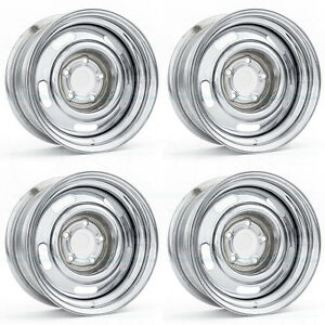 15x7 Vision 57 Rally 6x139 7 6x5 5 6 Chrome Wheel Rim Set 4