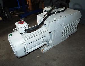 1 Used Leybold Trivac D65b Vacuum Pump W 3 0 Hp Motor Make Offer