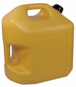 Gas Can Diesel Fuel Water 5 Gallon Yellow Scepter Jug Spout Cap Kerosene Safety