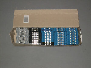 Eaton Xbut4 Din Rail Mount Terminal Block Box Of 50 Mixed Box 26 10 Awg