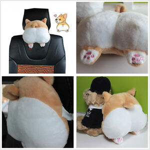 Car Auto Novelty Cute Soft 3d Pet Dog Buttocks Headrest Seat Neck Cushion Pillow