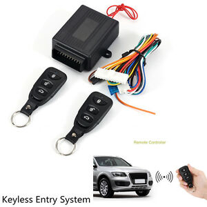 Universal Auto Suv Remote Control Central Kit Door Locking Keyless Entry System