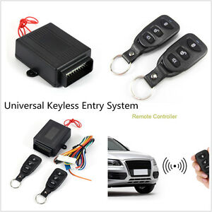 Universal Car Remote Central Controllers Alarm Door Locking Keyless Entry System