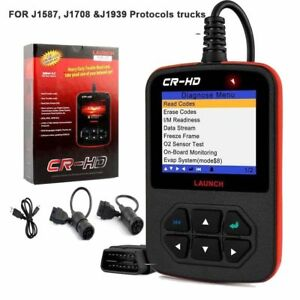 Launch Cr Hd Heavy Truck Diagnostic Scanner Code Reader For J1587 J1708 J1939 Us