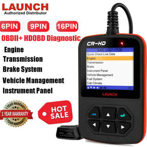 Launch Cr Hd Heavy Duty Truck Diagnostic Scan Tool Car Auto Code Reader Scanner