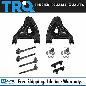 10 Piece Steering Suspension Kit Control Arms Ball Joints Inner Outer Tie Rods