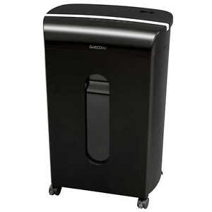Goecolife 16 sheet Micro cut Commercial Grade Shredder 15 minute Run Time Black