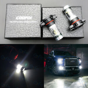 New 2x 2504 Psx24w 6000k White 100w Cree Led Headlight Bulbs Kit Fog Light Drl