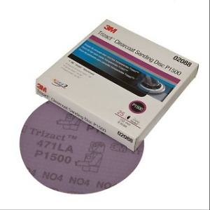 3m 02088 P1500 Trizact Hookit Clear Coat Sanding Disc 6 In 5 Sheets 3m 2088