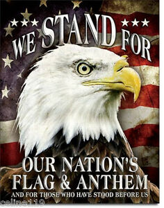 We Stand For Our Flag Vintage Style Metal Signs Man Cave Garage Decor 69
