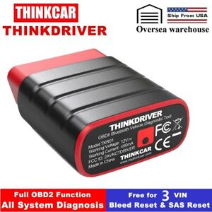 Thinkcar Thinkdriver Obdii Scanner Bluetooth Code Reader Abs Sas Reset Scan Tool