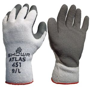 Showa Atlas 451 Large Gray Thermal Work Gloves 12 Pairs