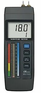 1pc New Lutron Ms7003 Concrete wood Moisture Meter Red Led Bar Graph Lcd Displ