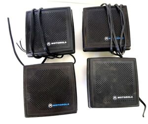 Lot Of 4 Motorola External Radio Speakers Mobile Trunking Cb 2 way Astro Spectra