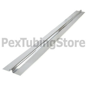 100 4ft Aluminum Radiant Floor Heat Transfer Plates For 1 2 Pex Tubing
