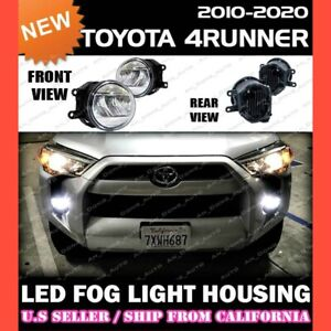 Led Fog Lights For Toyota 10 18 4runner Replacement Housing Lamp Clear Pair