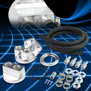 Universal Engine Oil Filter Relocation Relocate Kit thread 8ft Rubber Line hose