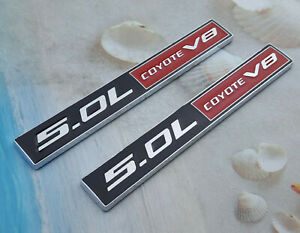 2x Abs Mustang Ford F150 5 0l Coyote V8 Logo Emblem Body Badge Sticker Decal