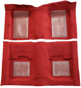 1969 Ford Mustang Mach I With 4 Maroon Inserts Nylon Replacement Carpet Kit