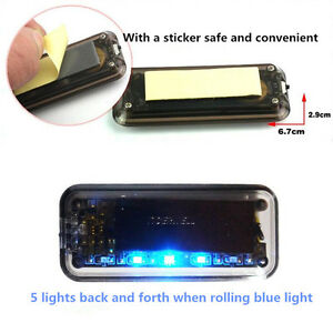 Car Alarm Security Flash Anti Theft Solar Energy Led Light Warning Sensor Light