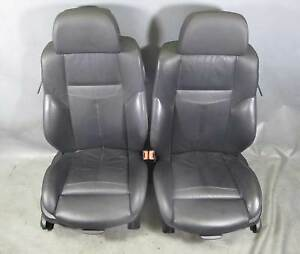 Bmw E63 6 Series Coupe Factory Front Sports Seats Black Precision Leather Heat