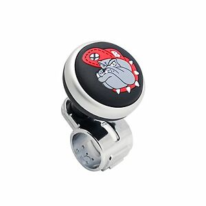 Bulldog Logo Car Steering Wheel Power Handle Spinner Suicide Accessory Knob