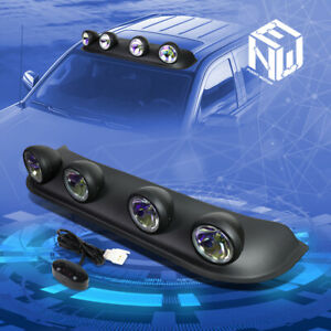 Universal Off road Style 4x4 Roof Top Neo Chrome Round Fog Light Lamp switch Kit