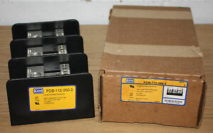 Ilsco Power Distribution Block Pdb 112 350 3 350 Mcm 6 3 Pole 600v 310 Amps