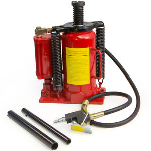 Air Hydraulic Bottle Jack 20 Ton Manual 40000lb Heavy Duty Auto Truck Rv Repair
