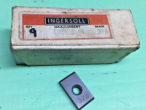 Lse 445 o1 Grade 370 Ingersoll Carbide Milling Inserts qty 9