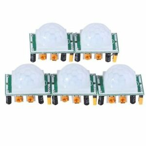 Motion Sensor Detector Modules Adjustable Automatic Pyroelectric Infrared 5 Pcs