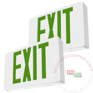 2pack Green Led Emergency Exit Light Sign Battery Backup Ul924 Fire Ledgbb