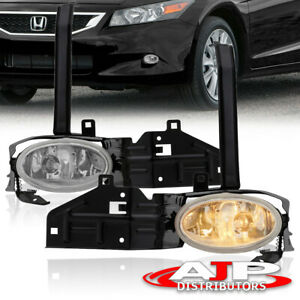 Chrome Driving Bumper Fog Lights Lamps Switch For 2008 2010 Honda Accord 2dr