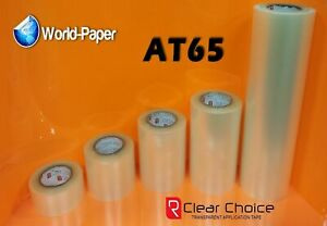 R Tape Clear Choice At65 Clear Application Transfer Tape 1 Roll 12 X 5 Yard