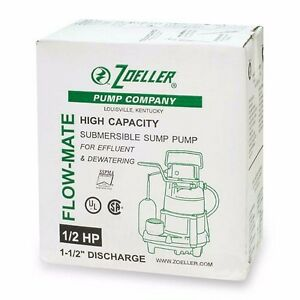 Zoeller 98 0004 E 98 Submersible Sump Pump