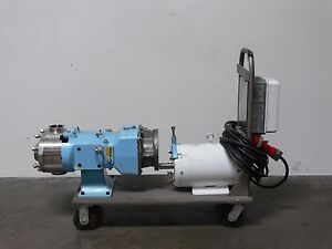 Waukesha 130u2 Univ 2 Positive Displacement Pump 079 Gear Box