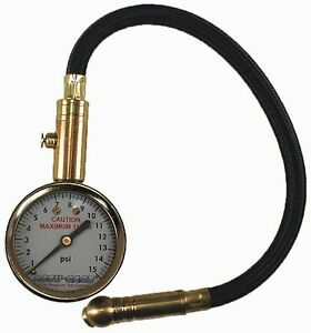 Accu Gage H15xa 3 15 Psi Swivel Angle Chuck Dial Tire Pressure Gauge With H