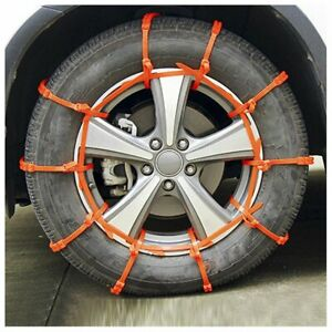 10 Pcs Snow Tire Chain For Car Truck Suv Anti skid Emergency Winter Driving New