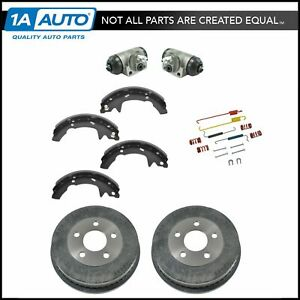 Rear Brake Drums Shoes Hardware Wheel Cylinders Kit Set For Ford Mercury New