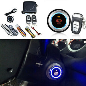 8 Pcs Car Suv Keyless Entry Engine Start Alarm System Push Button Remote Starter