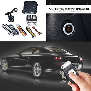 8 X Car Suv Security Alarm System Keyless Entry Engine Push Button Remote Start