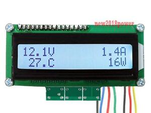 Battery Monitor Dc 99v 200a Lcd Digital Panel Amp Volt Power temperature Meter